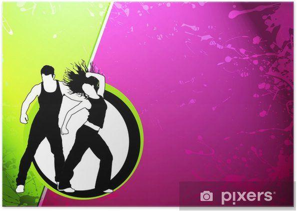 zumba dance fitness poster