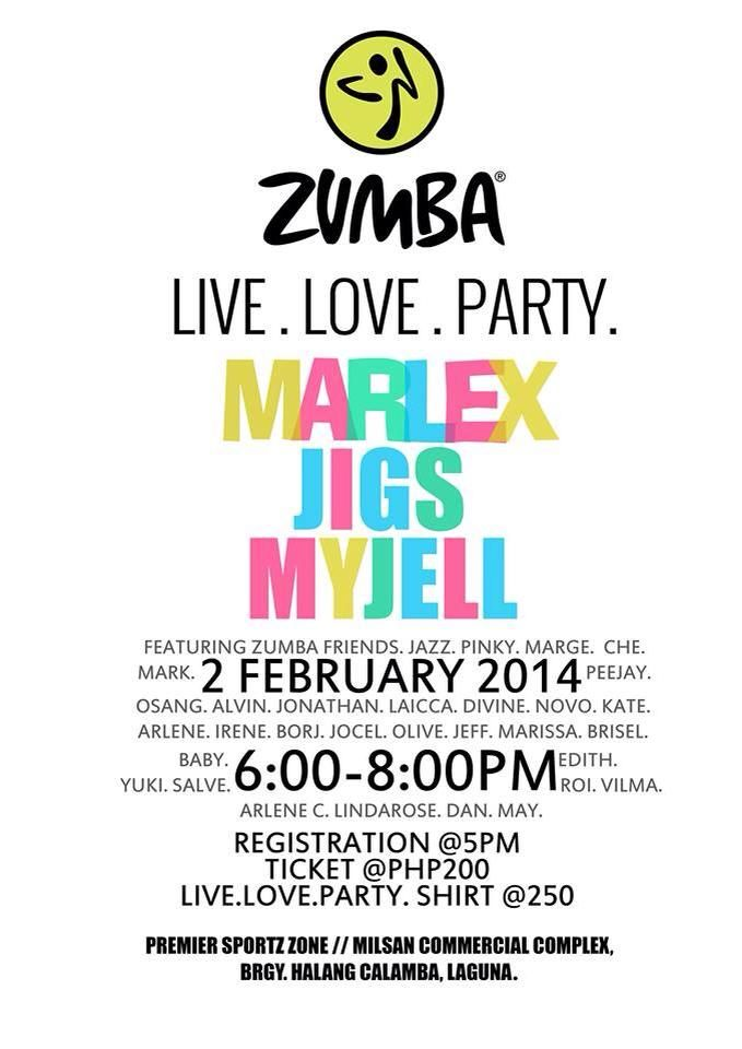 zumba live love party 2014 poster