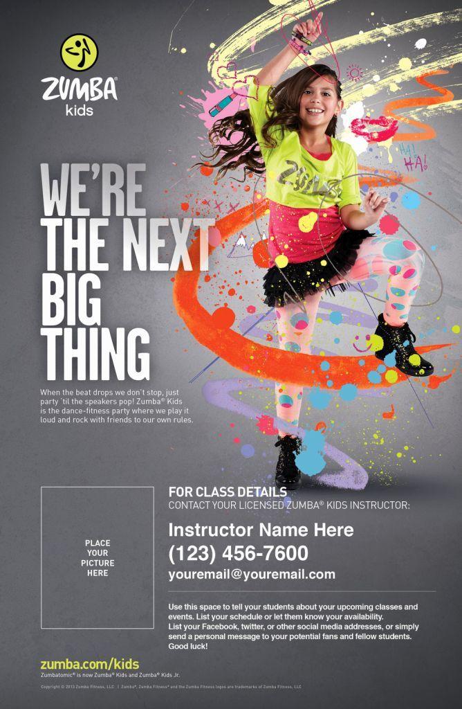 zumba poster zumba kids good work advertising graphic design