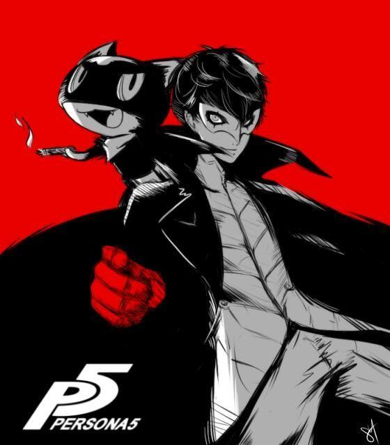 Animation Poster Meletup Mc and Morgana Poster Ren Amamiya and Morgana Persona 5