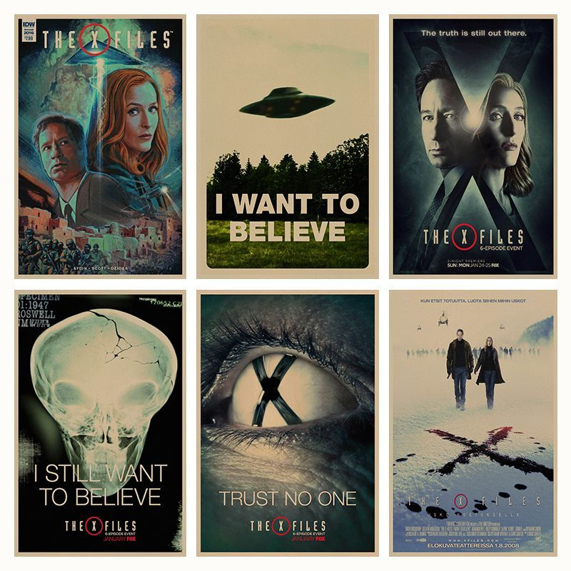 the x files alien ufo retro poster retro kraft paper bar cafe home decor painting