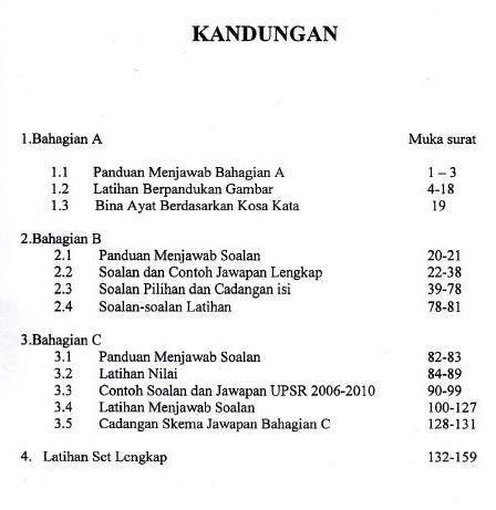 latihan bahasa melayu upsr penting gedung sjk tamil 2013 of senarai latihan bahasa melayu upsr yang