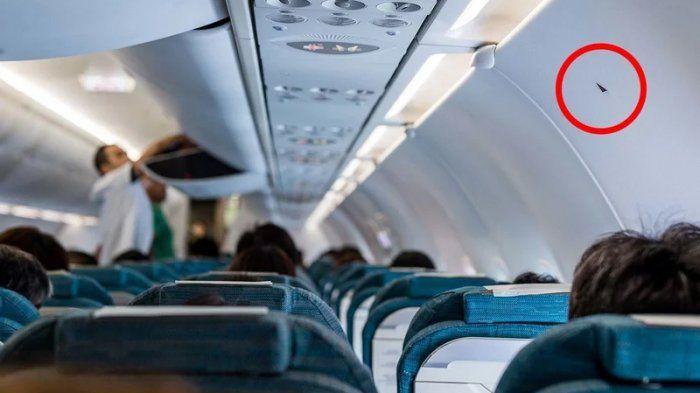 jadi teka teki penumpang ternyata inilah arti tanda segitiga kecil di bagasi kabin pesawat