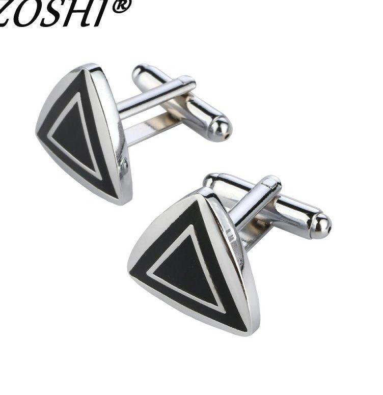 pabrik harga eceran manset untuk pria kuningan bahan segitiga desain kancing manset cuff links pria wedding party jewelry kualitas tinggi