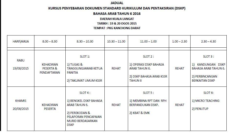 Download Dskp Bahasa Arab Tahun 6 Meletup J Qaf Kuala Langat 2015