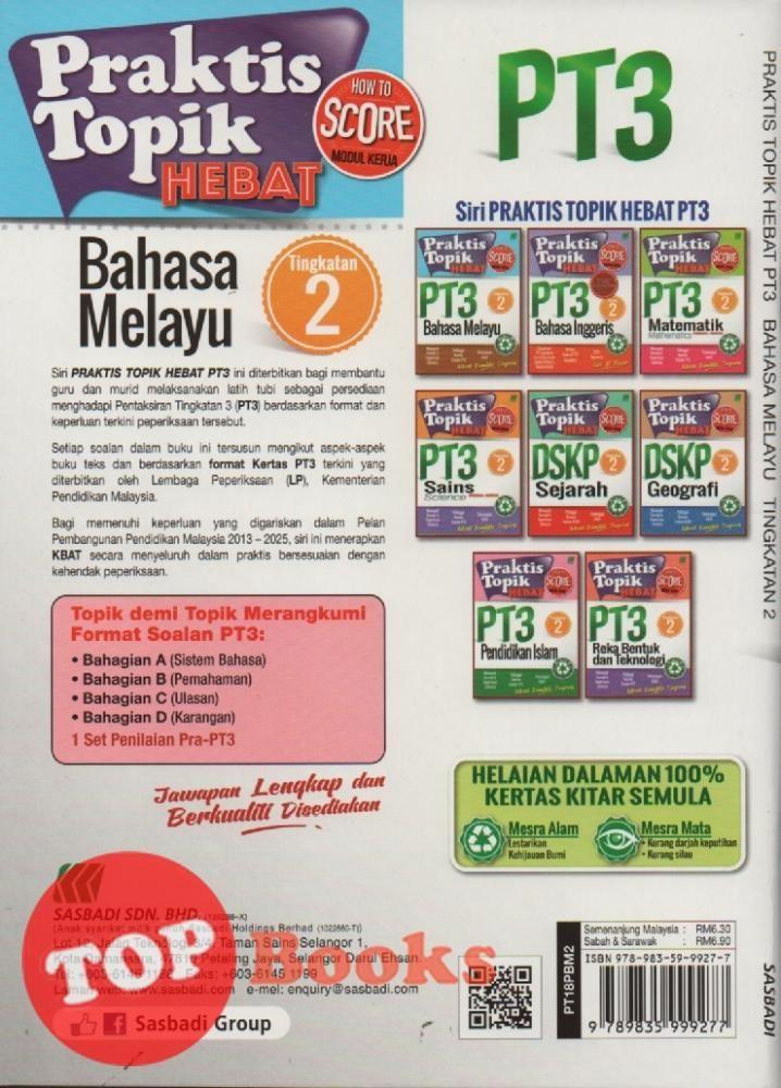 Download Dskp Bahasa Melayu Tingkatan 2 Hebat Sasbadi 18 Praktis topik Hebat Pt3 Bahasa Melayu Tingkatan 2