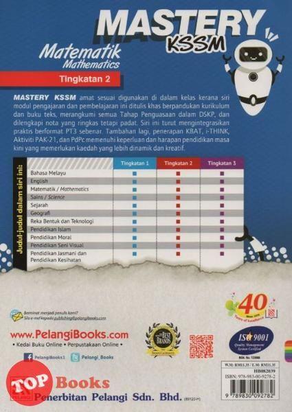 Download Dskp Pendidikan Seni Visual Tingkatan 4 Penting Pelangi 19 Mastery Kssm Matematik Mathematics Tingkatan 2 topbooks Plt