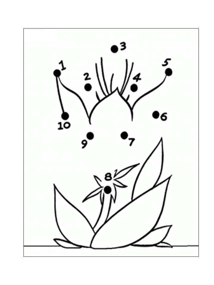 aktiviti menyambung titik titik nombor menjadi gambar bunga