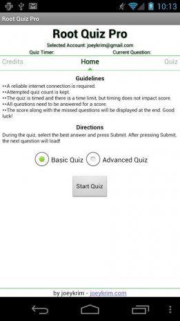 root quiz pro tangkapan skrin 2