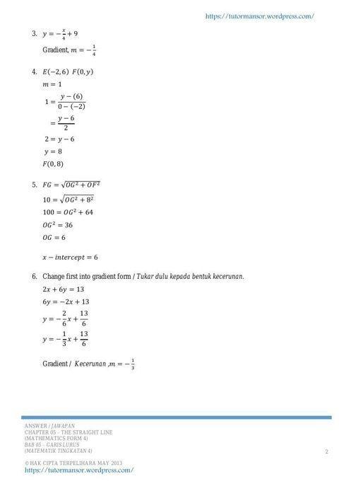 latihan matematik tingkatan 4 menarik tutormansor com latihan matematik tingkatan 4 05 strai by
