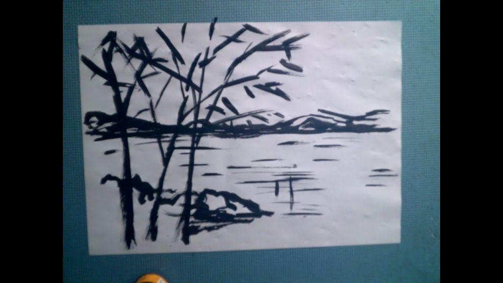 gambar lukisan pemandangan alam contoh gambar pemandangan 2 dimensi contoh gambar lukisan
