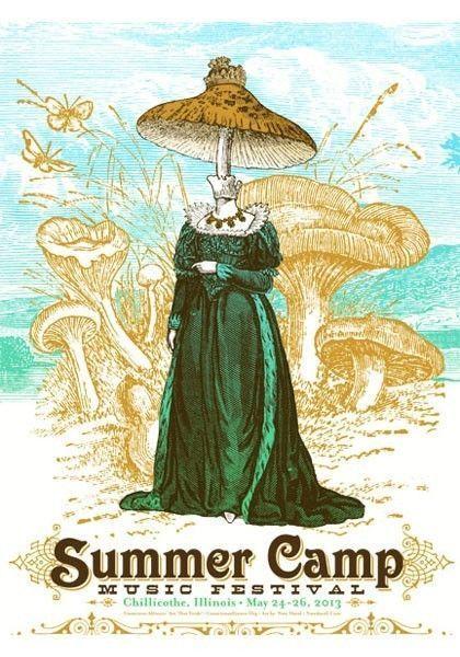 summer camp music festival 2013 screen print poster