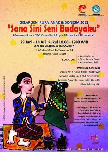 gelar seni rupa anak indonesia 2013 sana sini seni budayaku