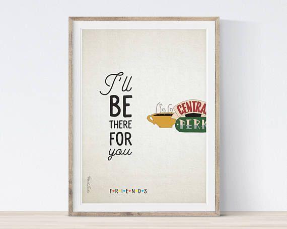 Poster Cafe Bernilai Central Perk Print Central Perk Sign Friends Tv Show Poster Diy