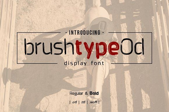 brushtype od font display