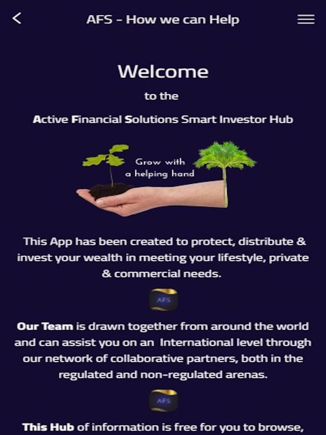 Poster Hub Meletup Afs the Smart Investor Hub On the App Store