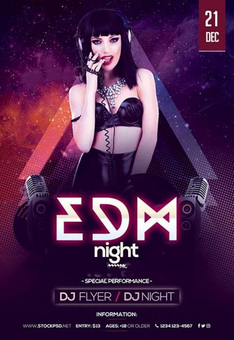 Wallpaper Poster Terbaik Dj Party Flyer Templates Psd Club Flyer Template Fresh Poster