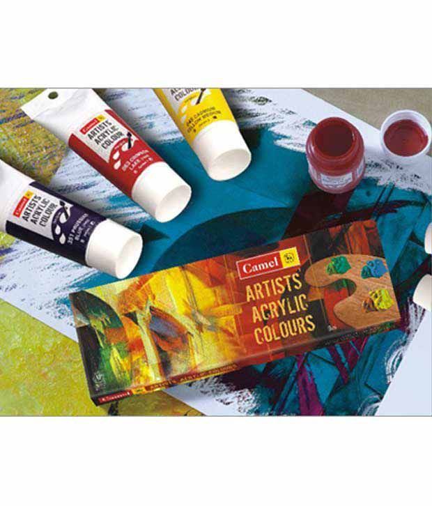 Acrylic Poster Baik Camlin Acrylic Colour Box 700 M 12 12 Shades Buy Online at Best