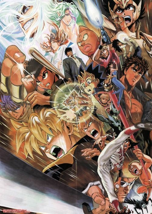 40th anniversary poster for shonen jump