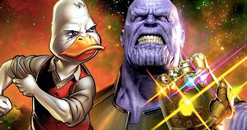 Avengers Poster Hebat Will Thanos Kill Howard the Duck In Infinity War