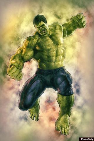 wall art hulk avengers artwork artist amit kumar postergully