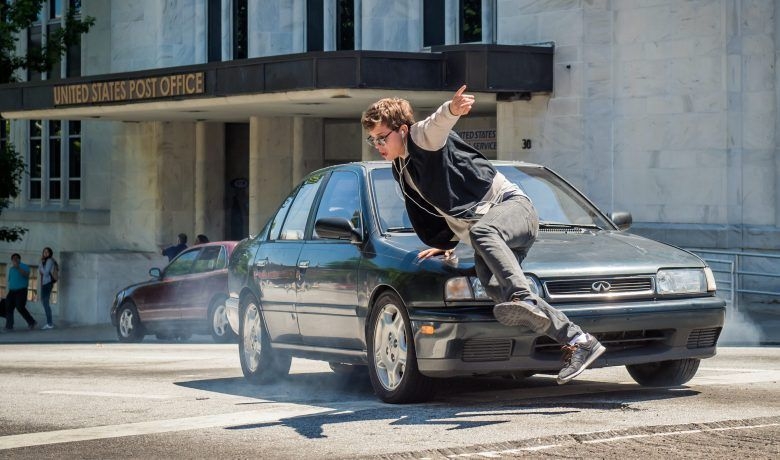 baby ansel elgort is chased by the cops in tristar pictures baby driver