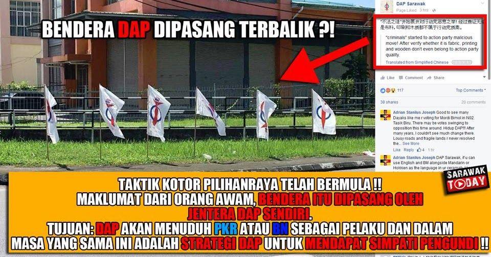 Bendera Sabah Mewarna Penting Pasang Bendera Terbalik Taktik Terbaru Dap Untuk Salahkan Pkr Dan