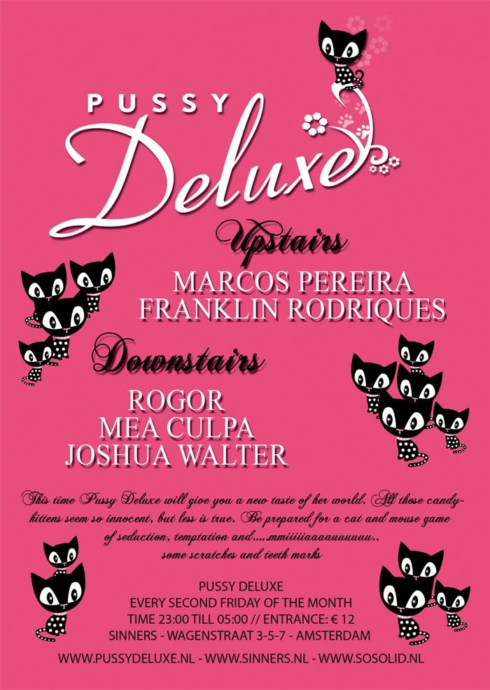 Cat Poster Terbaik Pussy Deluxe A 9 February 2007 Sinners Amsterdam A event
