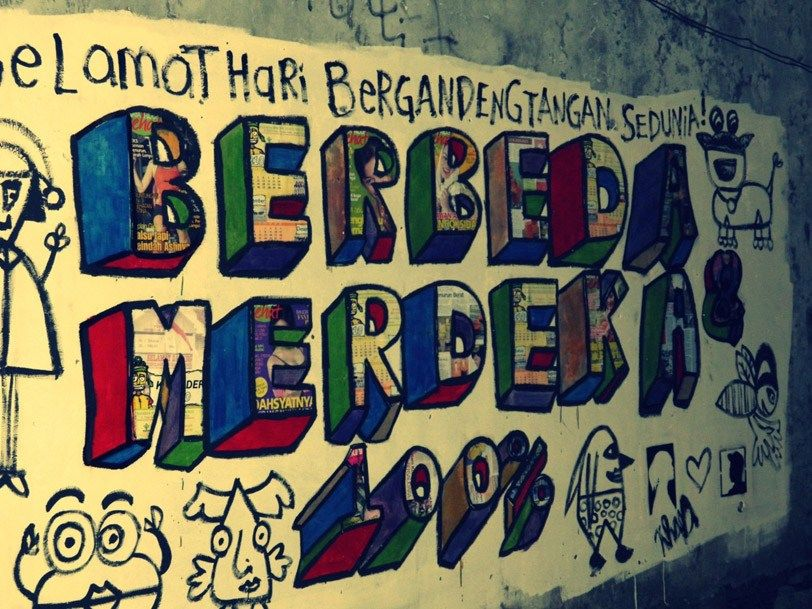 Contoh Poster Dan Slogan Terbaik Street Art In Indonesian social and Political Life