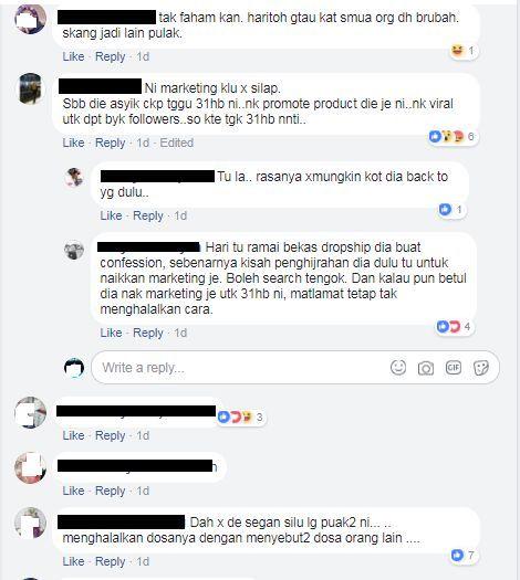 kalau betullah ia sekadar gimik untuk melariskan produk produknya jualannya rasanya makin lingkup perniagaannya sebab netizen