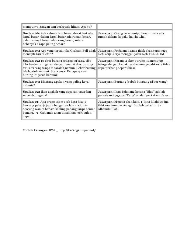 Contoh Teka Teki Dalam Jawi Yang Bernilai Untuk Para Guru