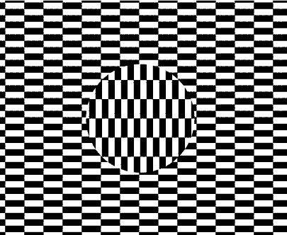 ini adalah ilusi optik kultus ditemukan pada tahun 1973 oleh seniman jepang ouchi dan dinamai menurut namanya dalam gambar ini ada beberapa ilusi