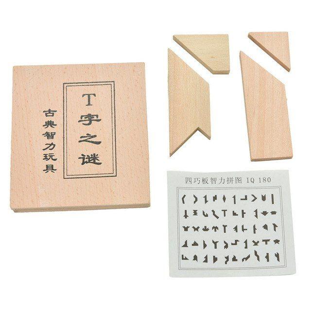 lucu klasik cina mainan pendidikan perkembangan anak klasik puzzle anak mainan kayu hadiah puzzle kata t