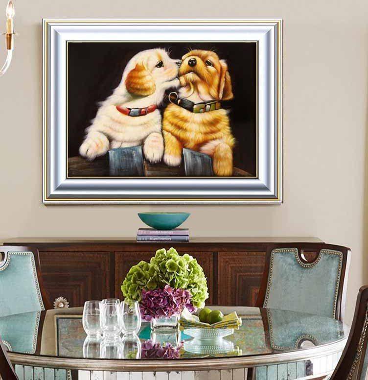 3d berlian lukisan intim kecil anjing 20x25 berlian berlian imitasi disisipkan lukisan berlian cross stitch rumah ruang tamu