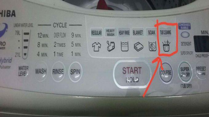 jangan letak apa apa pakaian di dalam mesin basuh semasa proses mencuci mesin dijalankan
