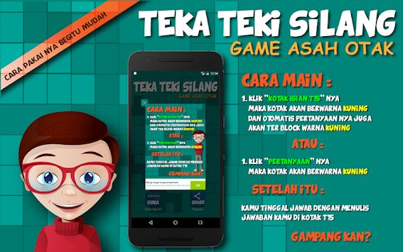 teka teki silang tts offline asah otak indonesia poster