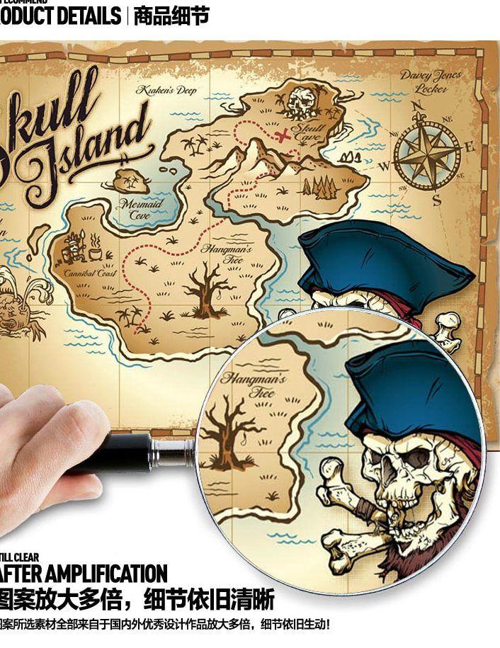 grafik bajak laut peta harta karun wallpaper kayu busana mural wallpaper kamar tidur anak wallpaper mural besar papel de paede