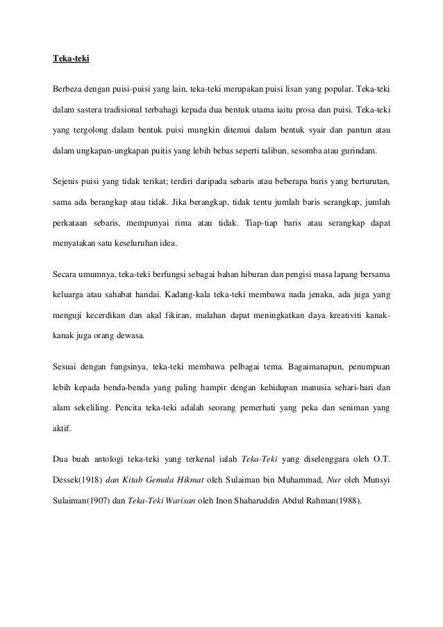 contoh teka teki dewasa malaysia yang penting untuk para murid