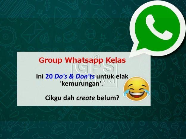 ini 20 do don ts dalam grup whatsapp kelas untuk elak kemurungan