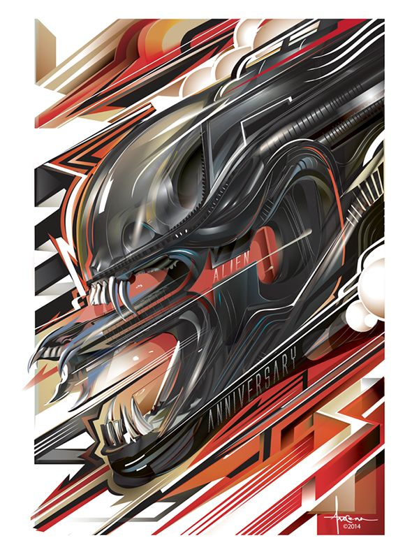 Desain Poster Keren Penting Poster Keren Desain Modern Alien 35 Vector Poster Posse Tribute