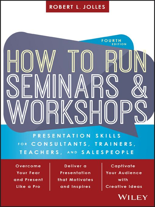 Desain Poster Seminar Baik How to Run Seminars and Workshops National Library Board Singapore