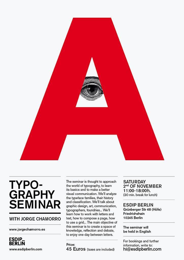 Desain Poster Seminar Berguna Seminario De Tipografa A by Jorge Chamorro Poster Typography