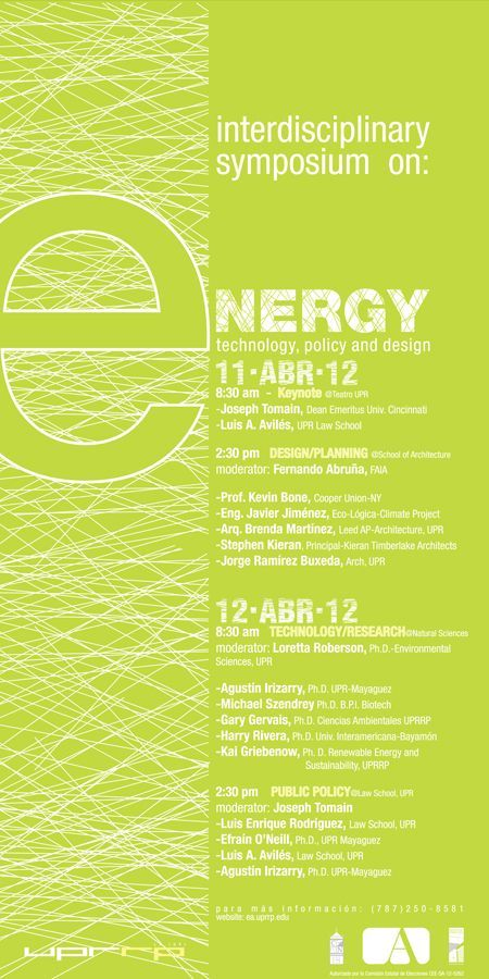 interdisciplinary symposium on energy technology policy and design