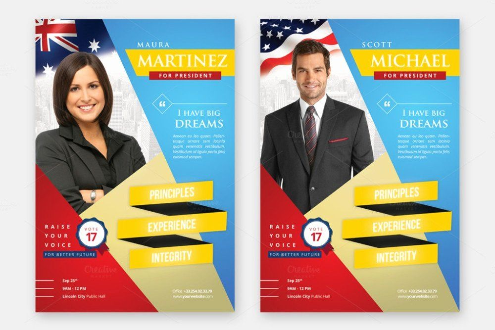 campaign poster template free awesome new election poster template free political brochure election flyer
