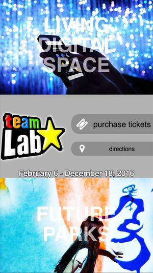 Exhibition Poster Baik Teamlab Living Digital Space and Future Parks En App Store