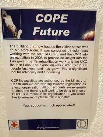 cope visitor centre poster in english