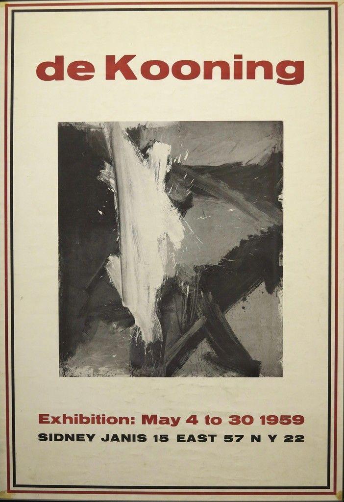 Exhibition Poster Bernilai Willem De Kooning 1959 Exhibition Poster 1959 Terenchin Wilhelm
