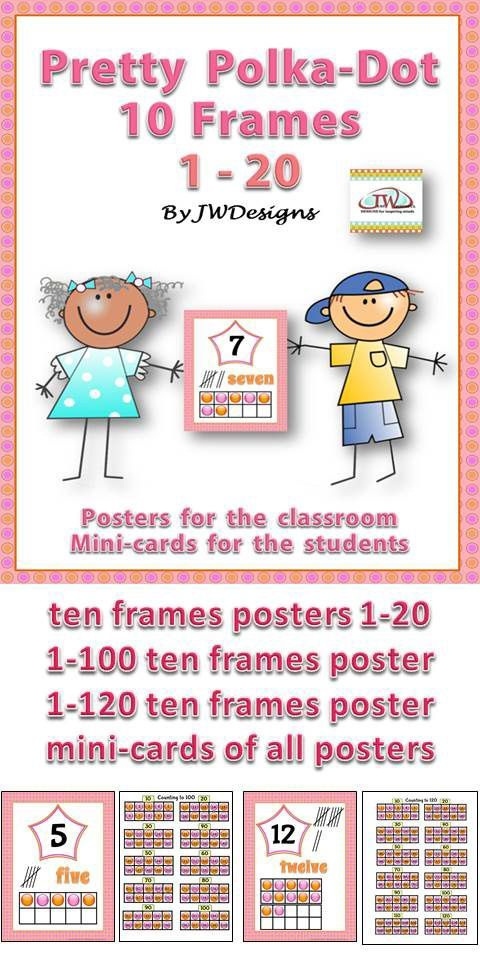 Frame Poster Terbaik Numbers 1 20 Posters and Reference Cards with Tens Frames Learning