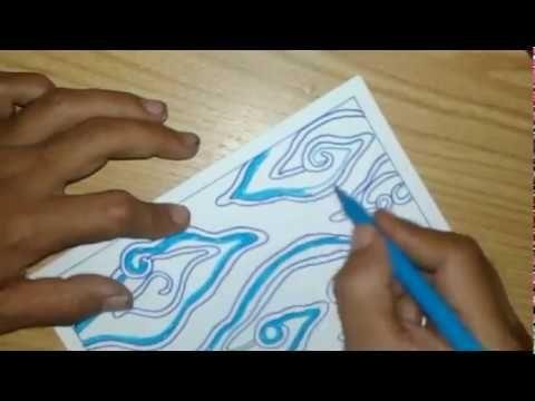 Gambar Mewarna Batik Bernilai oret oretan Tapi Jadi Batik Mega Mendung Emang Ga Rapih Sih Youtube