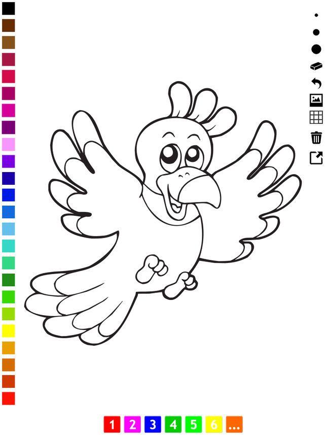 Gambar Mewarna Buah-buahan Bernilai Aktif Buku Mewarna Burung Untuk Kanak Kanak Untuk Belajar Bagaimana